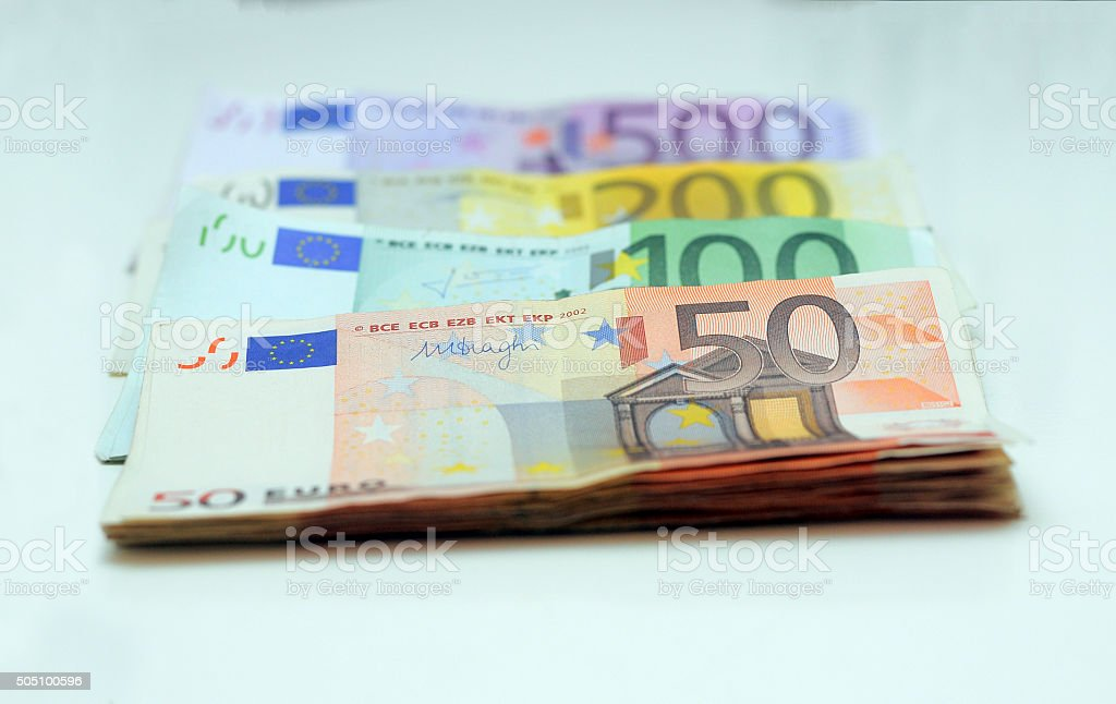 Stacks of Money stock photo