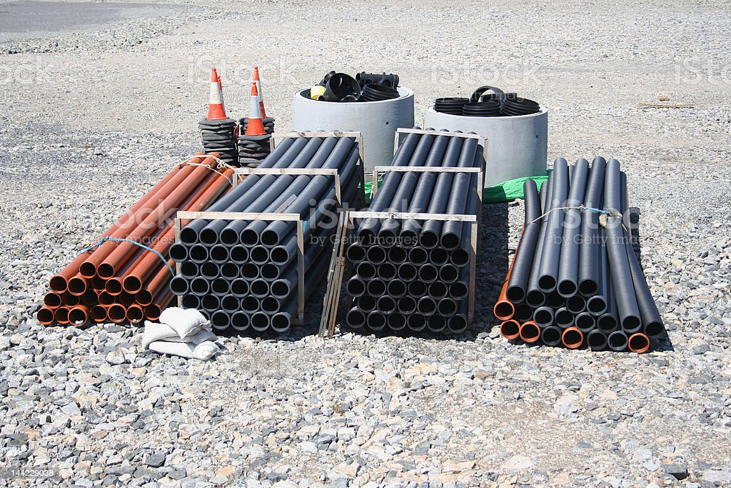stacks of pipe royalty-free stock photo