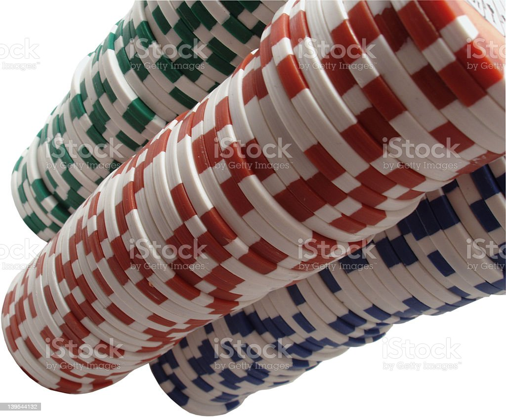 Stacks of poker chips royalty-free stock photo