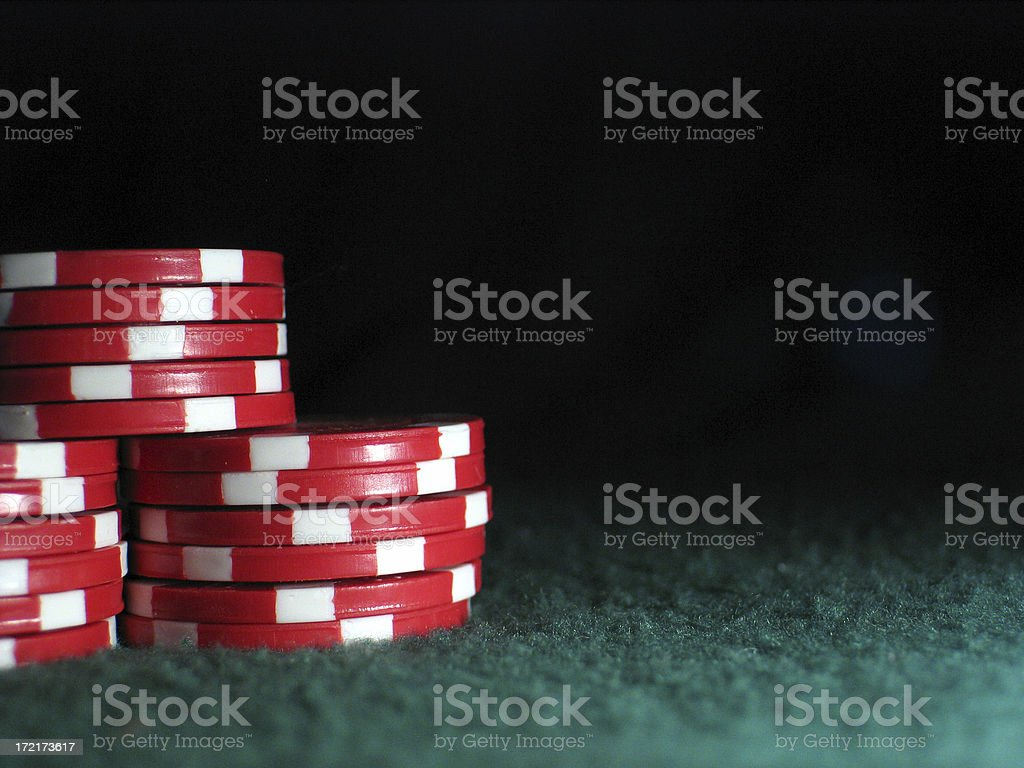Stacks of Red Chips royalty-free stock photo