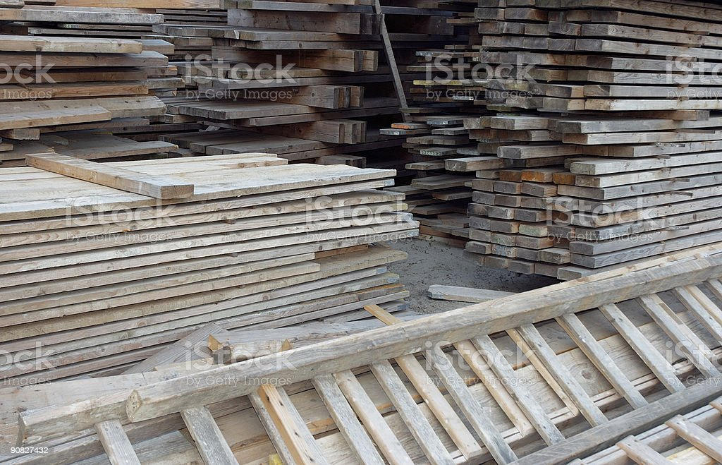 Stacks of Timber. royalty-free stock photo