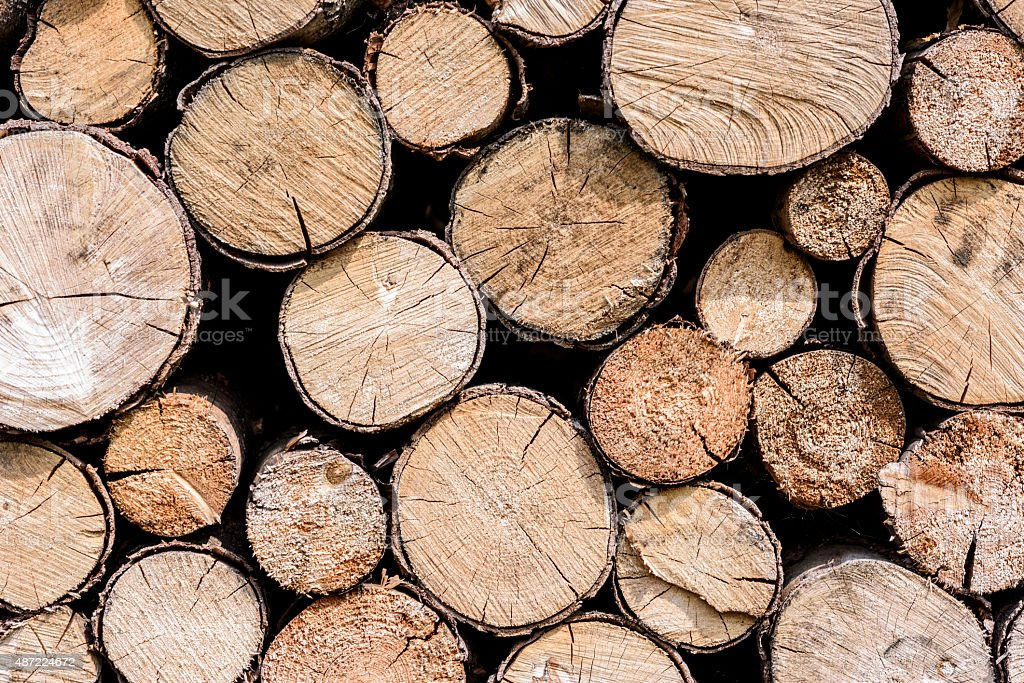 stacks of wood stock photo