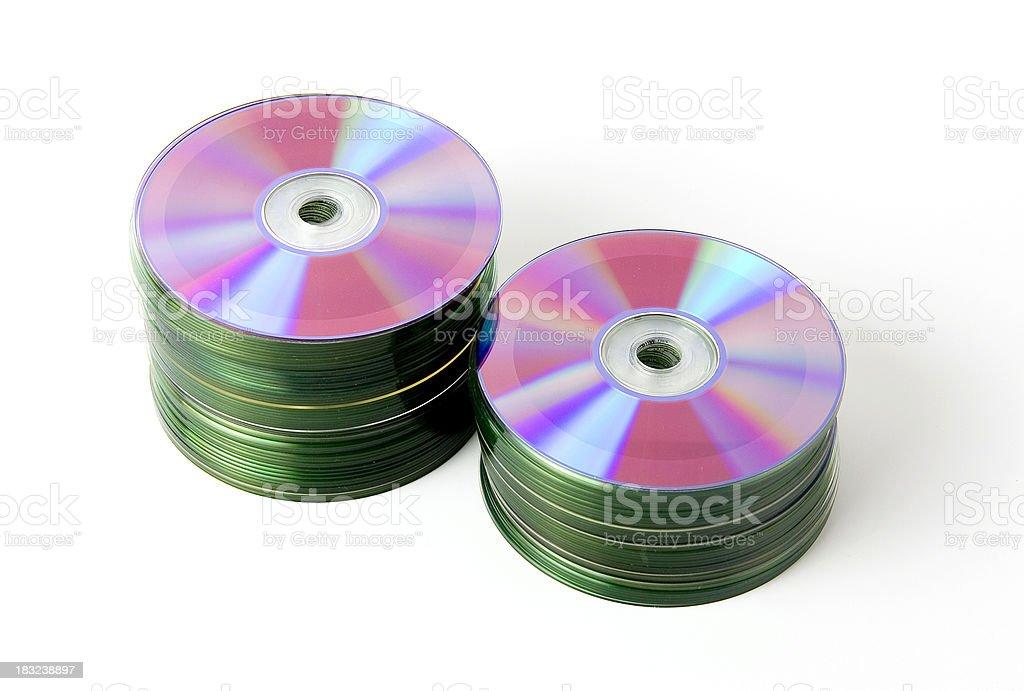 DVD stacks royalty-free stock photo