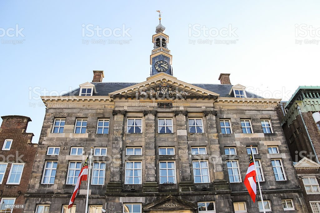 Stadhuis  in the Dutch town Den Bosch. stock photo