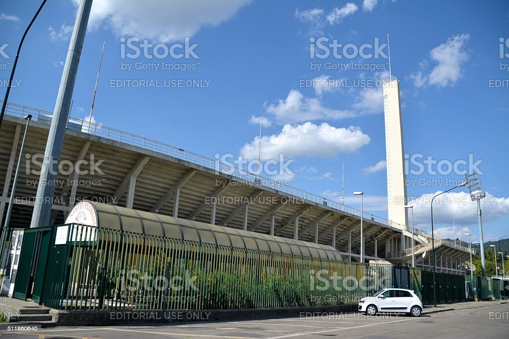 Stadio Artemio Franchi, Florence stock photo