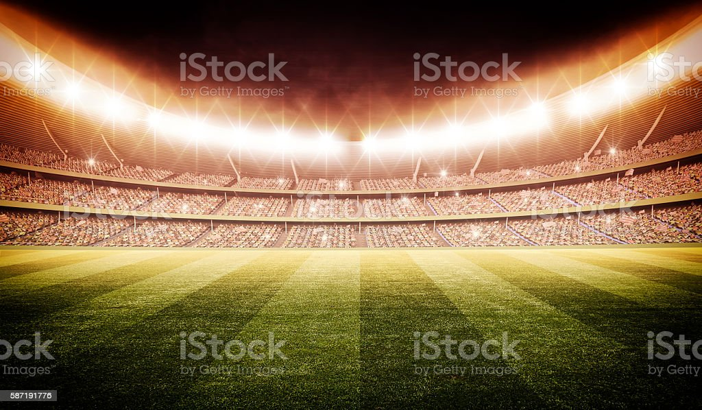 stadium 3d stock photo