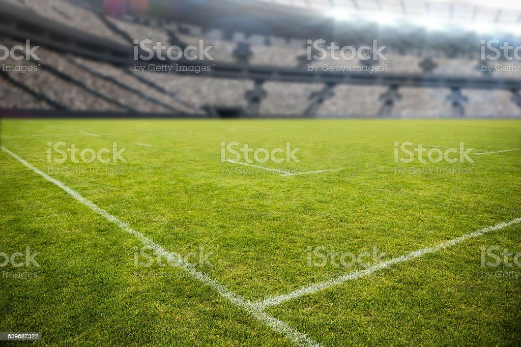 Stadium against sky 3d stock photo