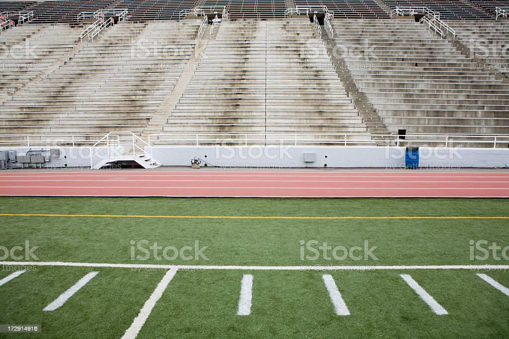 Stadium and field stock photo