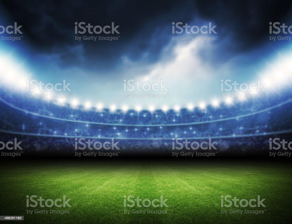 Stadium and sky stock photo