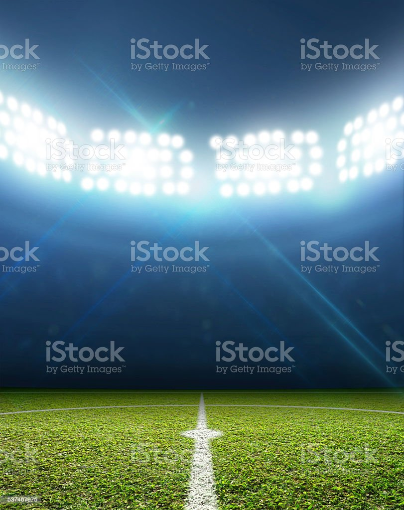Stadium And Soccer Pitch stock photo