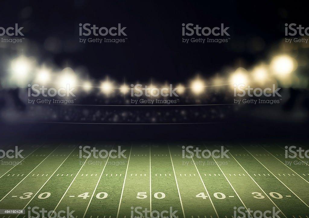 stadium and spotlight stock photo