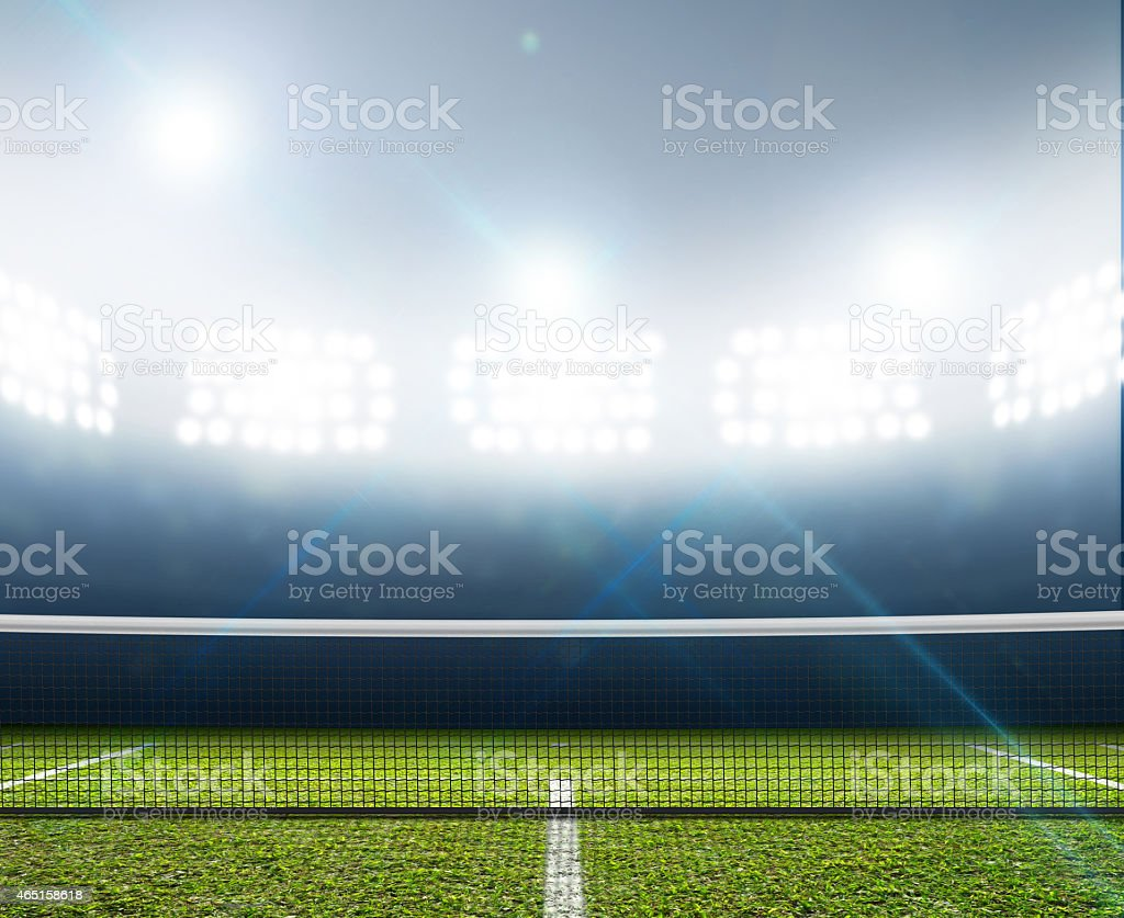Stadium And Tennis Court stock photo