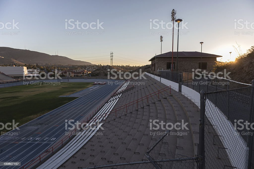 Stadium around a track and field. royalty-free stock photo