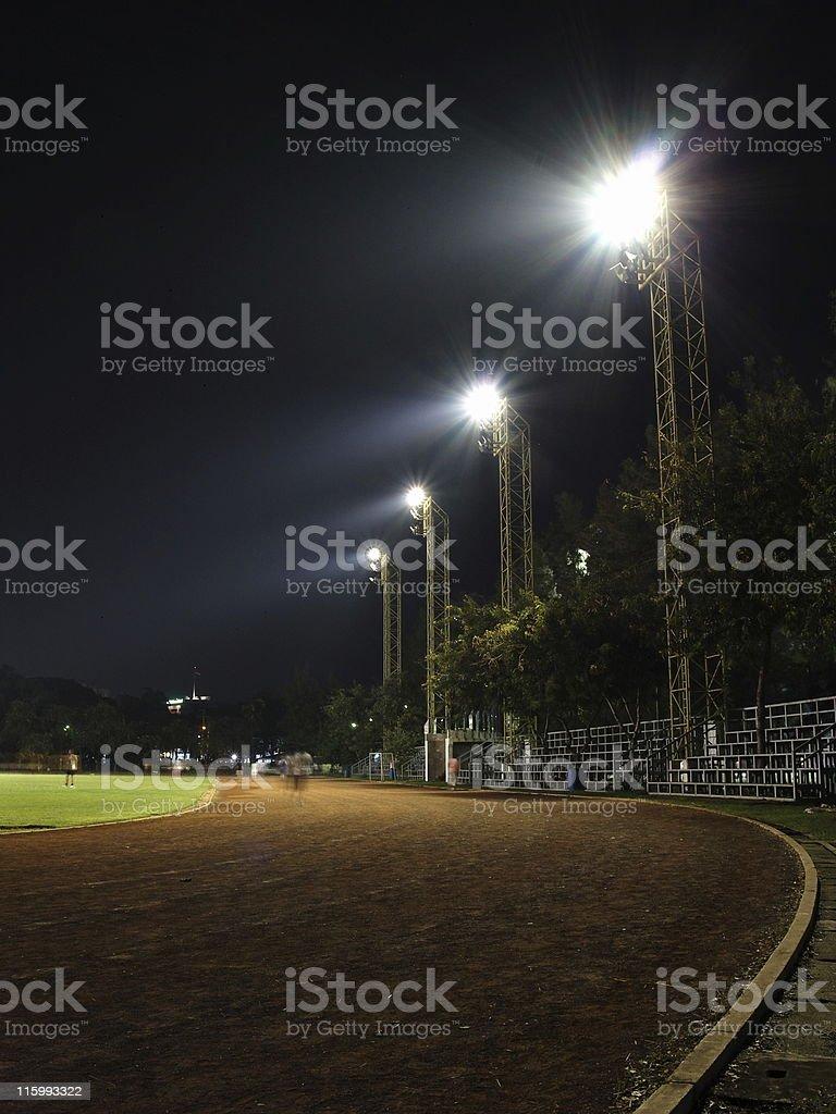 Stadium at night royalty-free stock photo