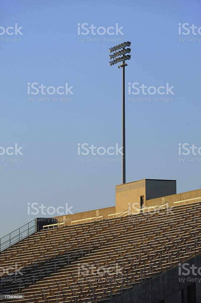 Stadium at Sunset royalty-free stock photo