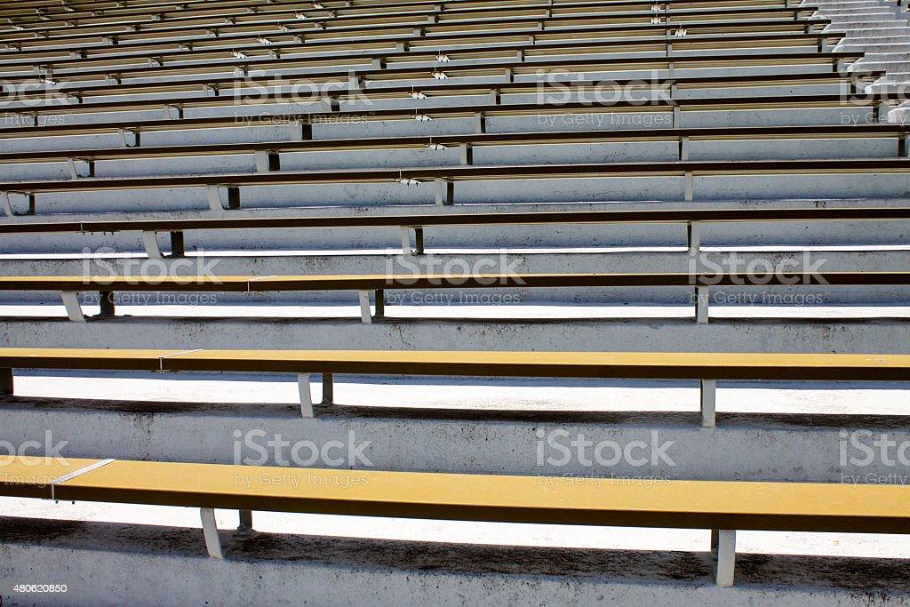 Stadium Bleachers stock photo