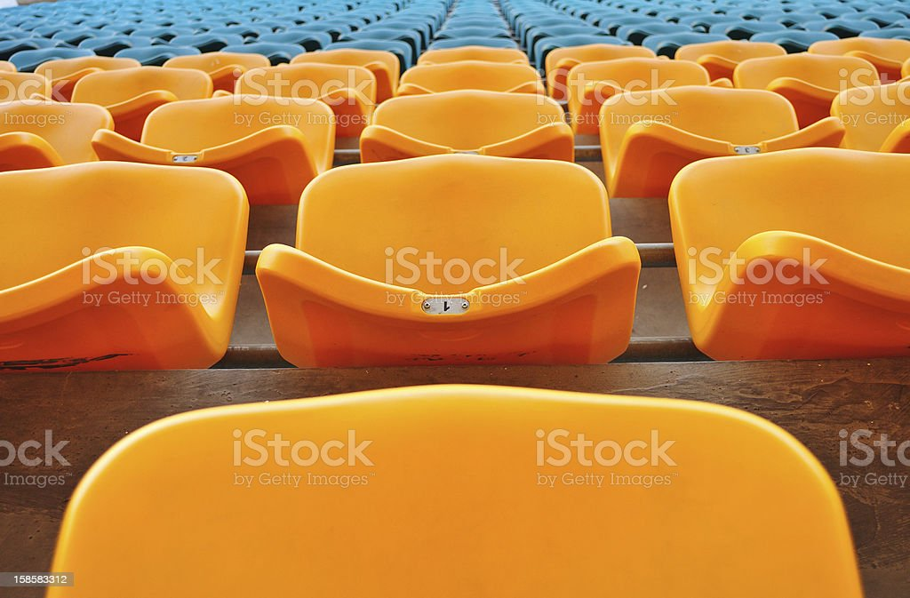 stadium chair royalty-free stock photo