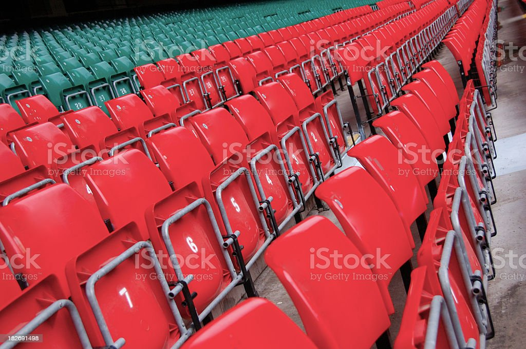 Stadium Chairs royalty-free stock photo