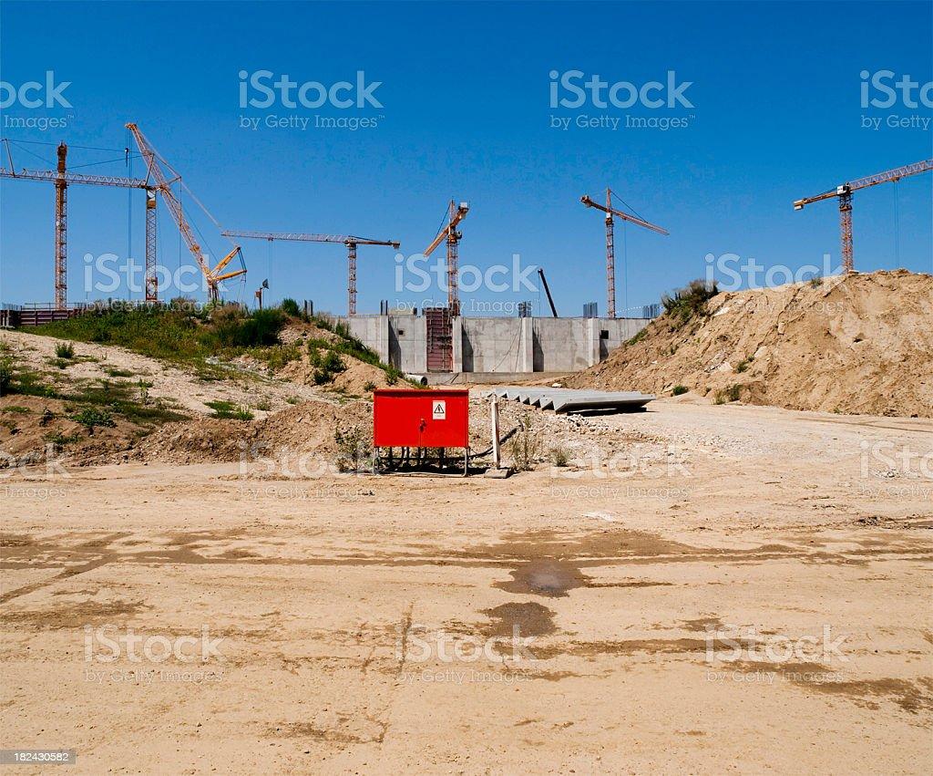 Stadium construction site royalty-free stock photo