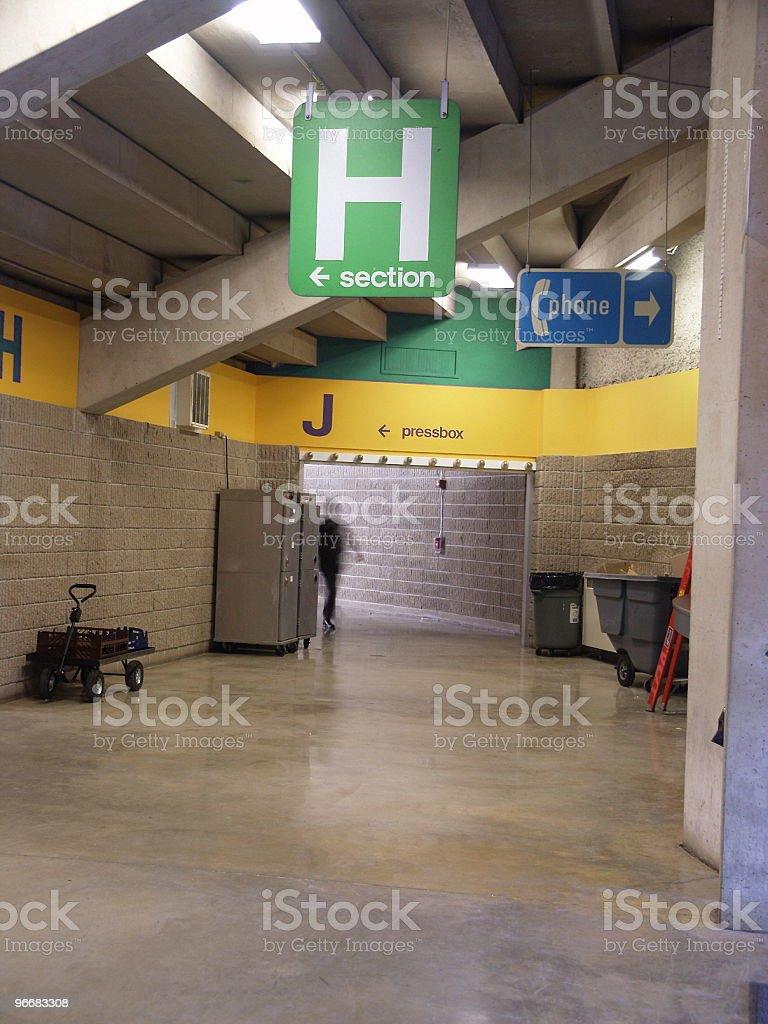 Stadium Corridor stock photo