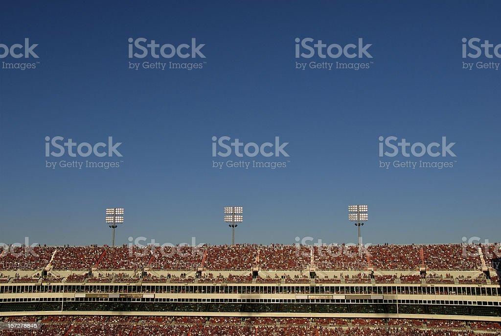 Stadium Crowd Under Blue Sky royalty-free stock photo
