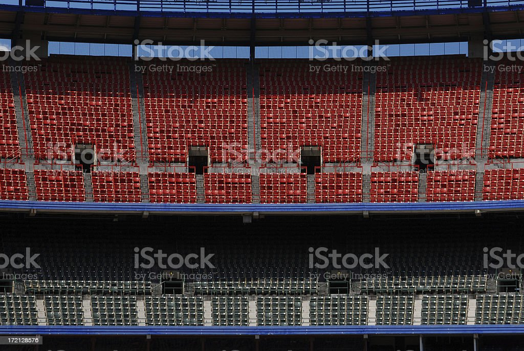 Stadium - Empty bleechers royalty-free stock photo