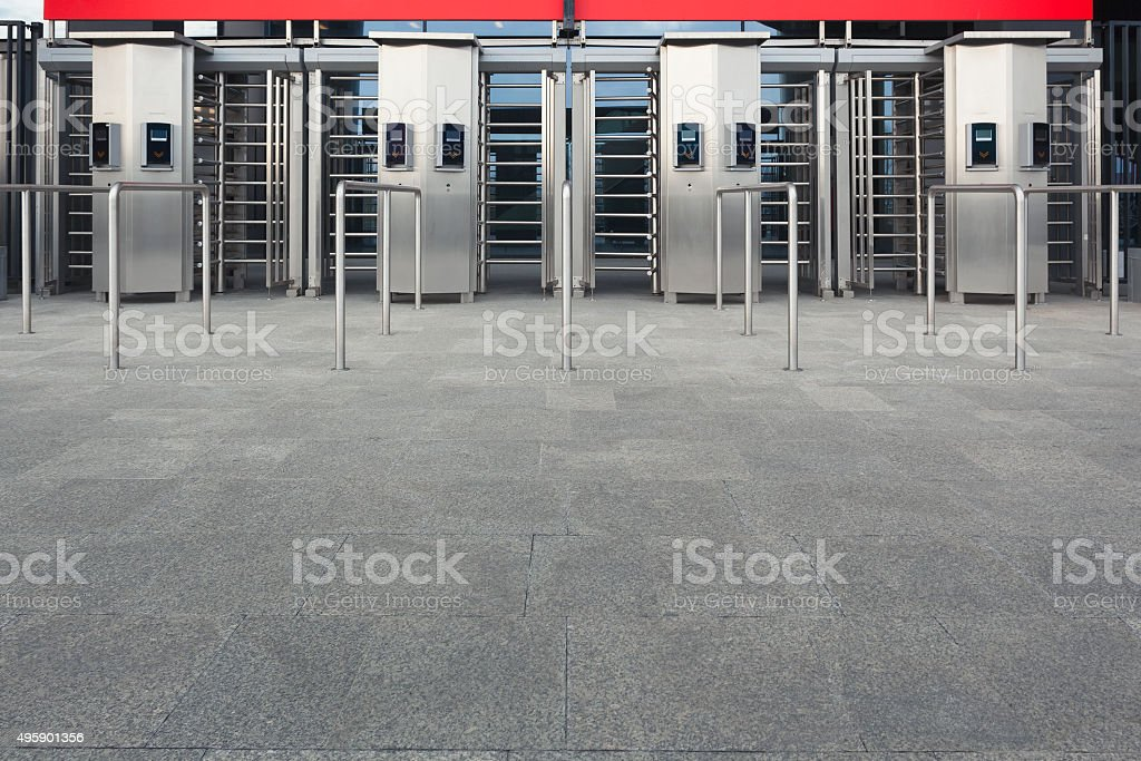 Stadium entrance stock photo