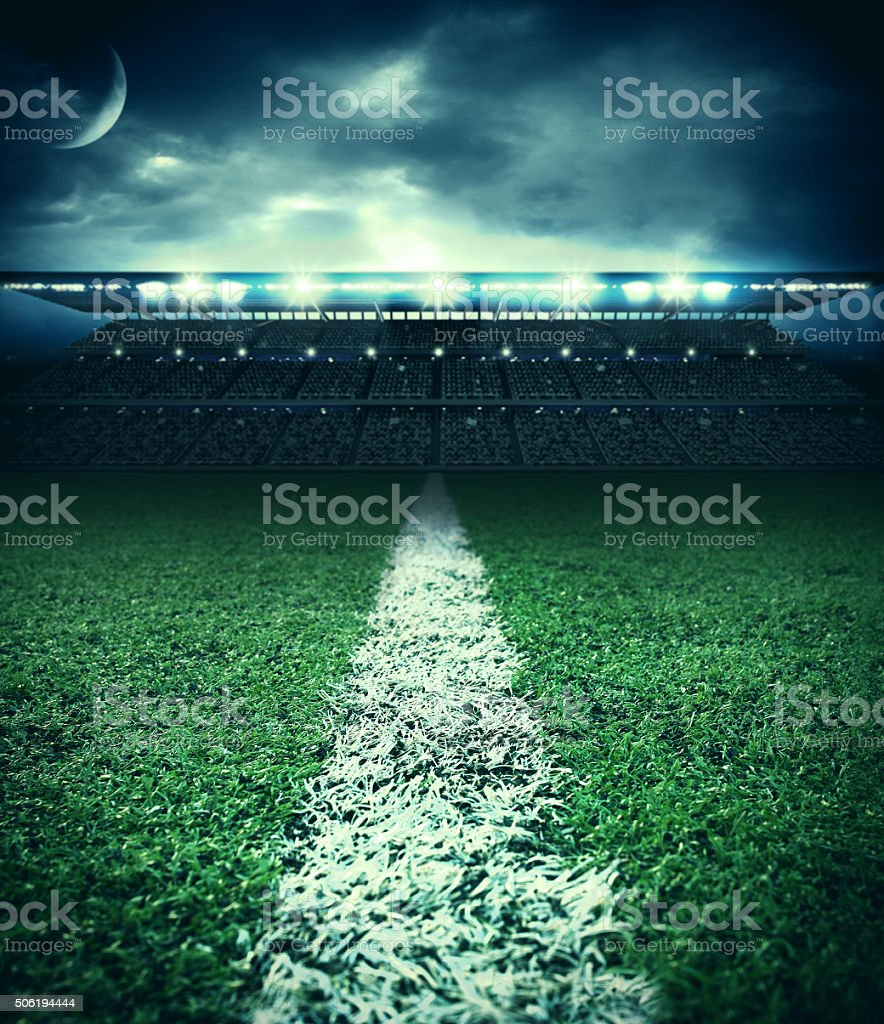 stadium field stock photo