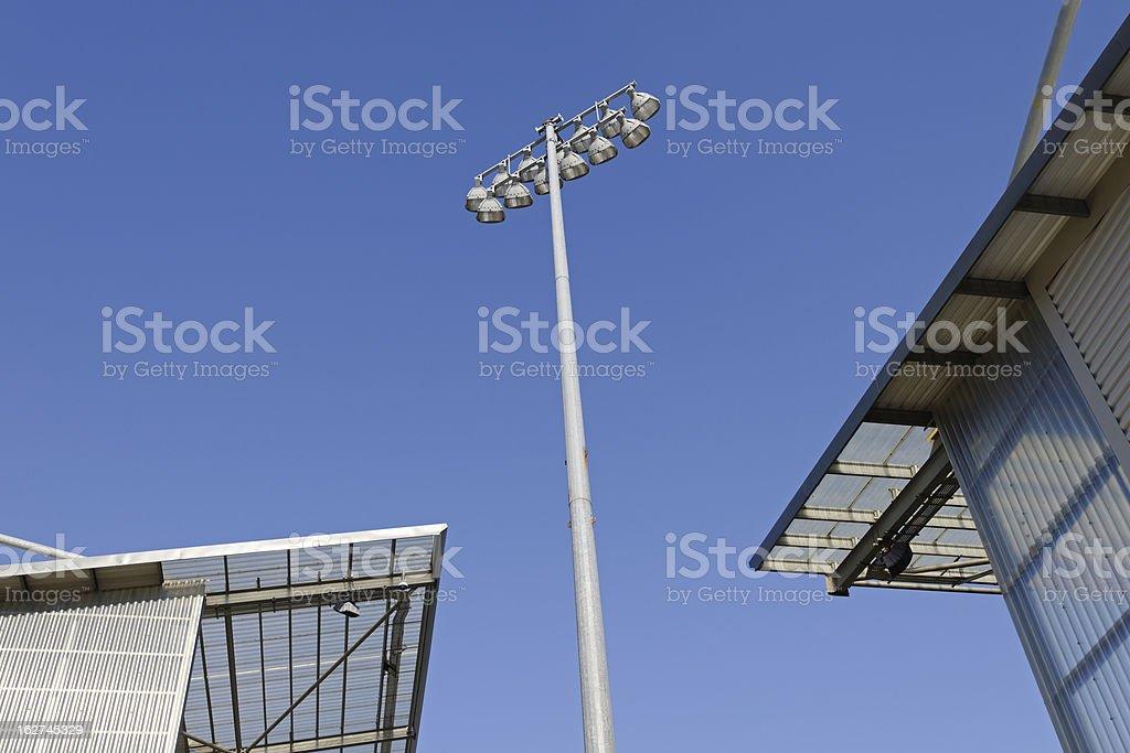 Stadium Floodlights royalty-free stock photo