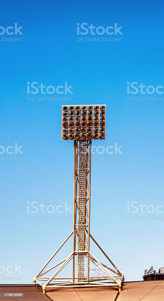 Stadium Floodlights stock photo