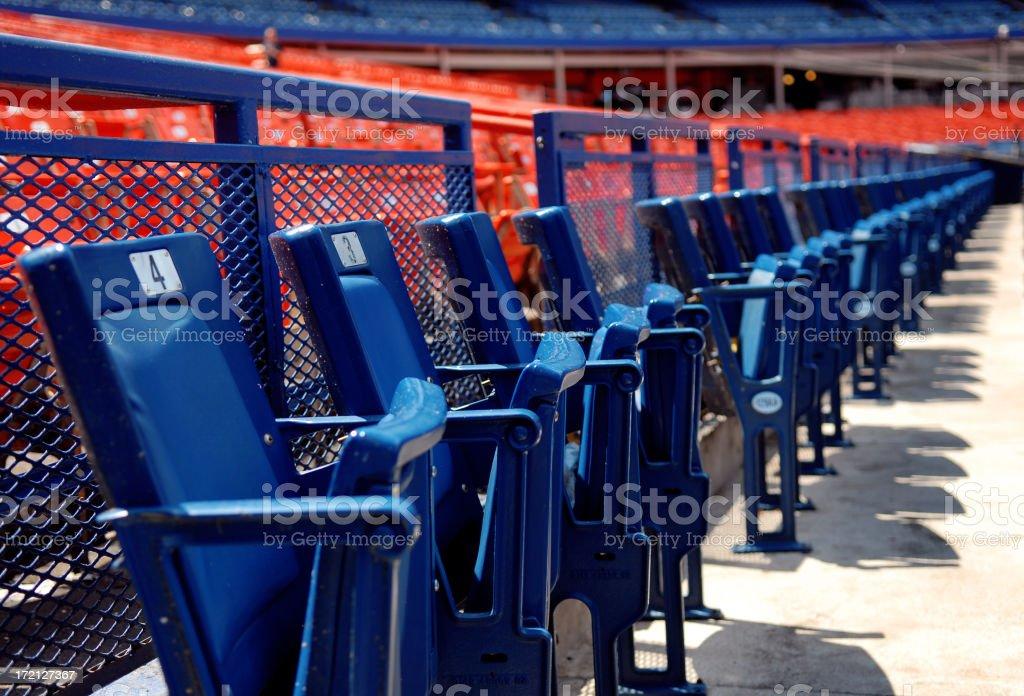 Stadium - Front row seats stock photo