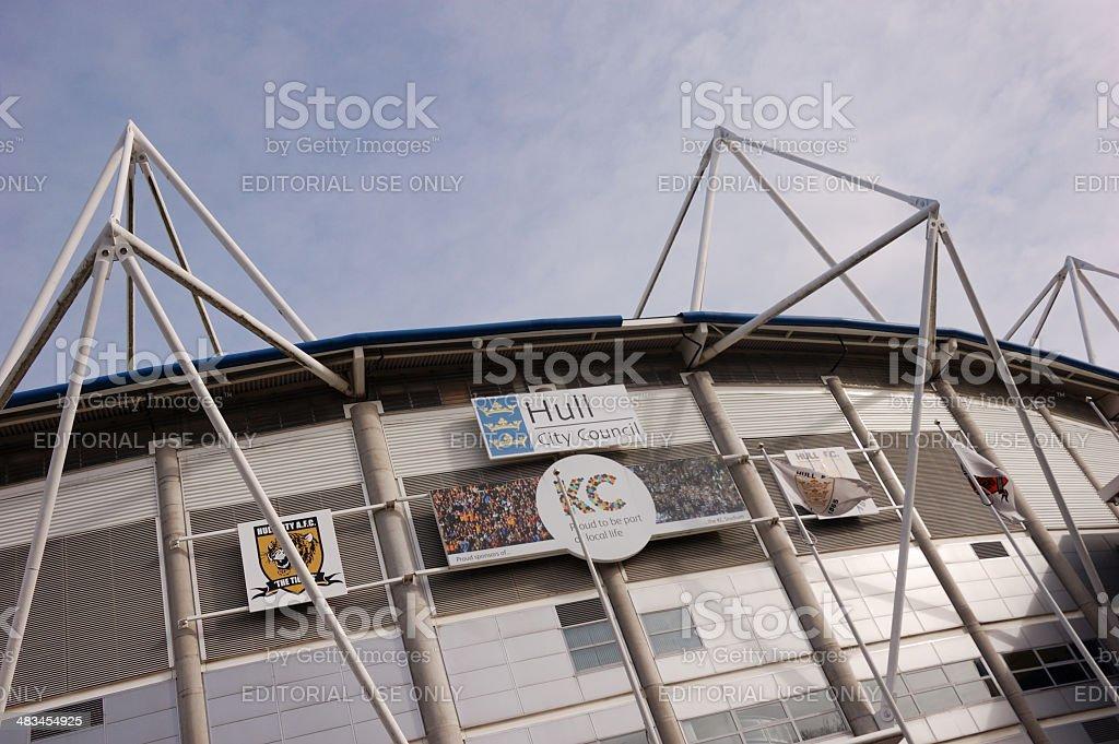 KC Stadium, Hull royalty-free stock photo