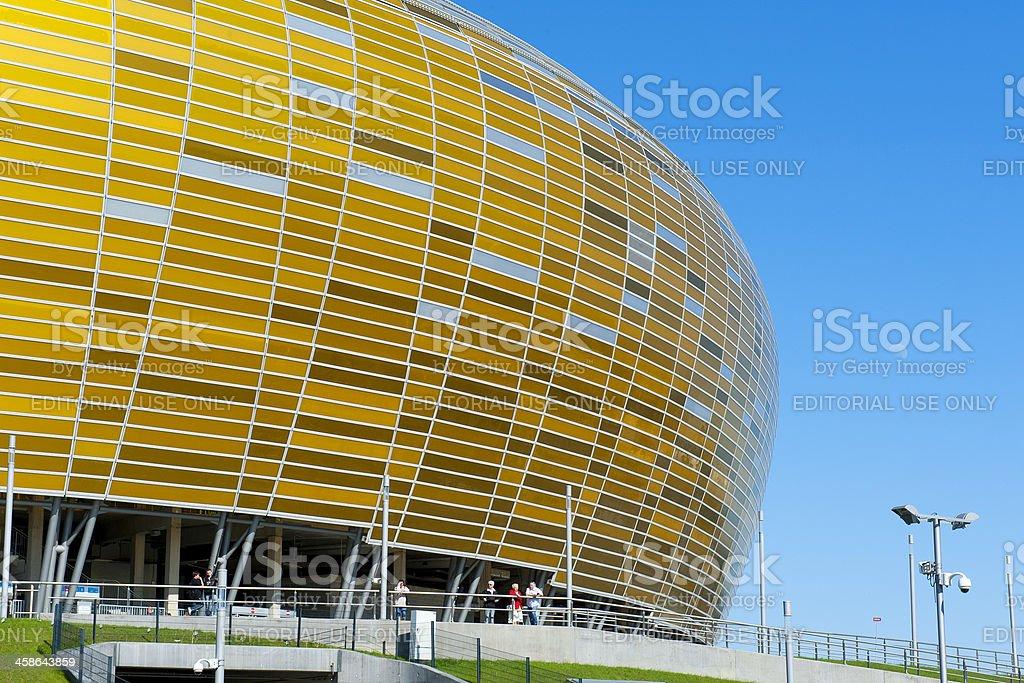 Stadium in Gdansk for UEFA EURO 2012 stock photo