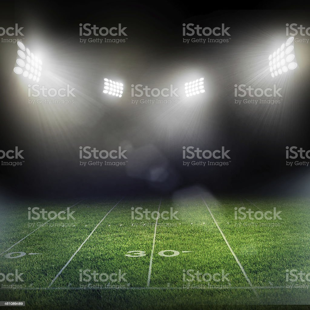 stadium in lights and flashes stock photo