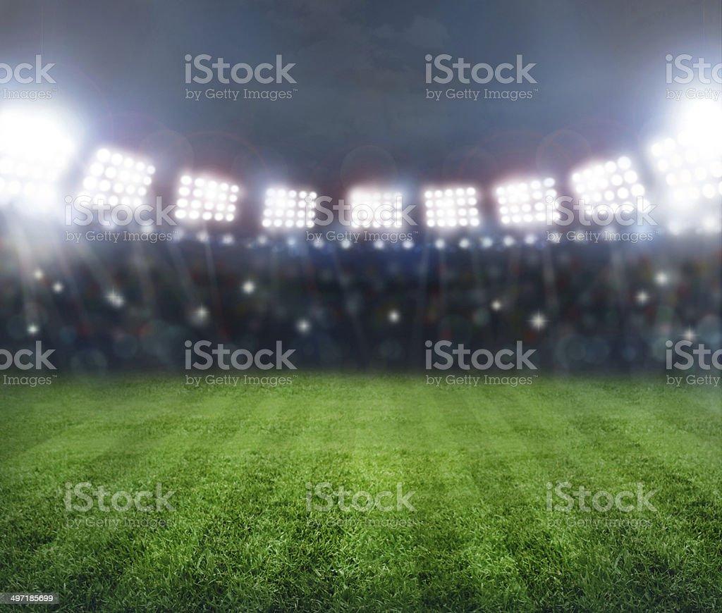 stadium in lights stock photo