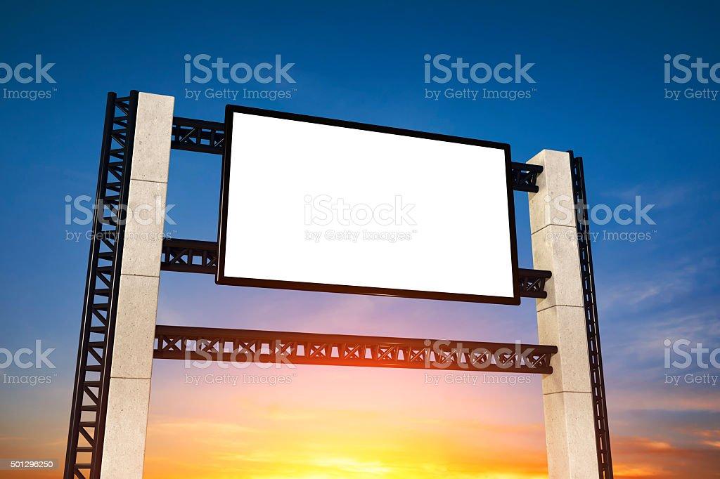 Stadium Jumbo-tron Sunset stock photo