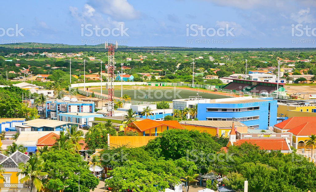 Stadium, Kralendijk, Bonaire stock photo