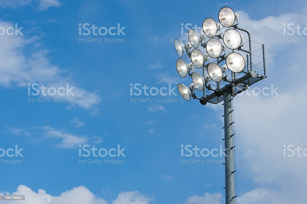 Stadium Lights at Sporting Event royalty-free stock photo