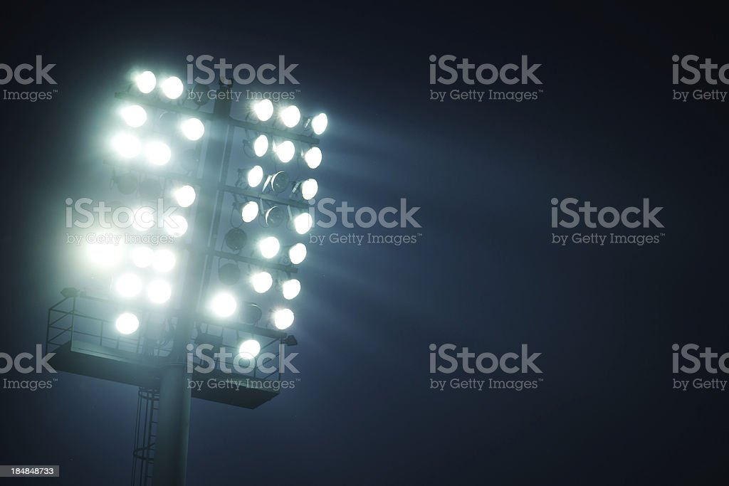 Stadium lights  - front view royalty-free stock photo