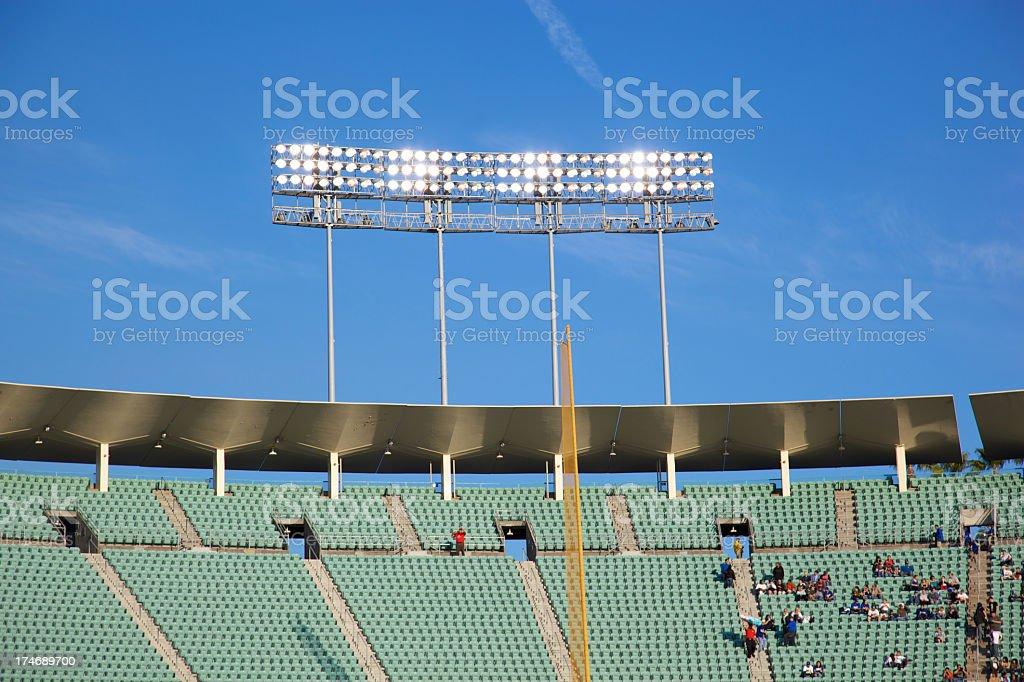 Stadium Lights Over Upper Deck stock photo