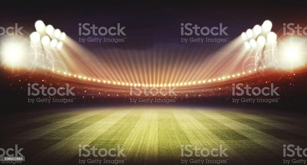 Stadium night stock photo
