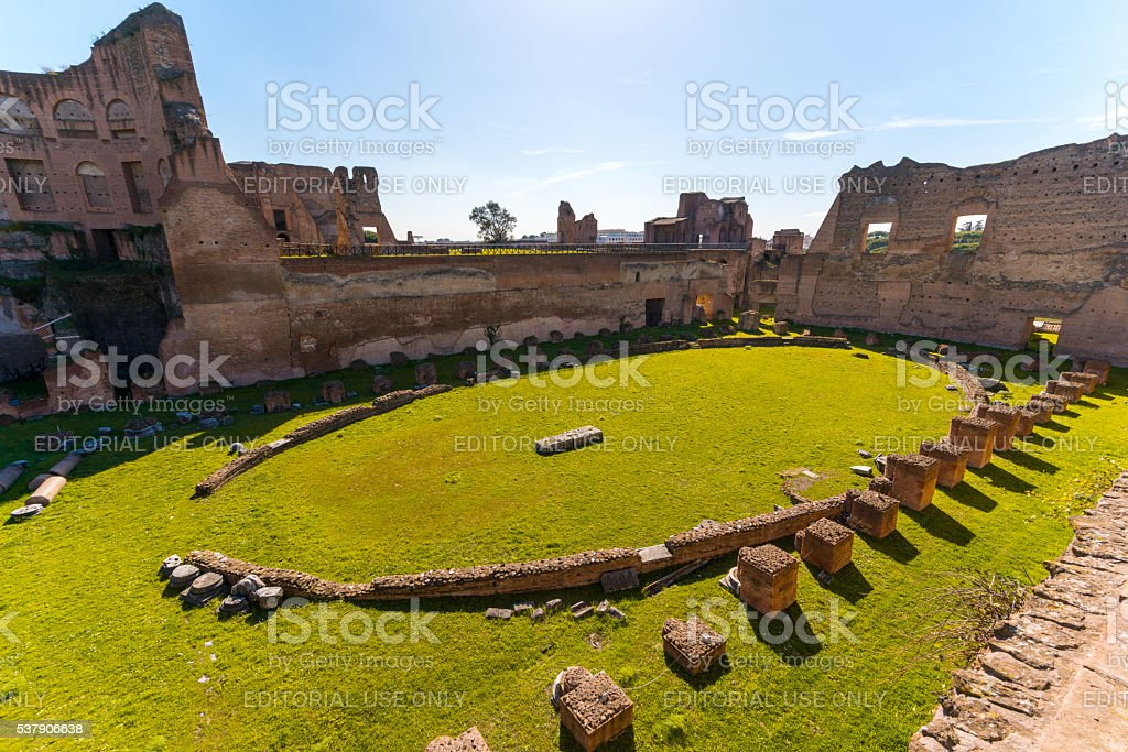 Stadium of Domitian in Rome, Italy stock photo