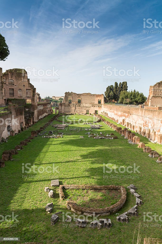 Stadium of Domitian, Rome, Italy stock photo