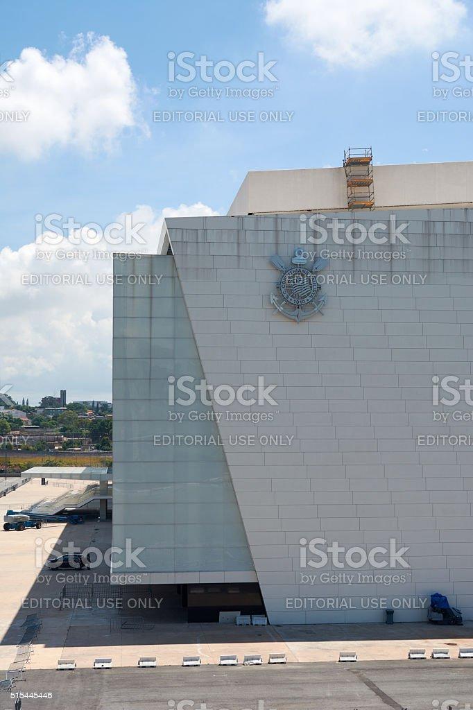 Stadium of Sport Club Corinthians Paulista in Sao Paulo, Brazil stock photo