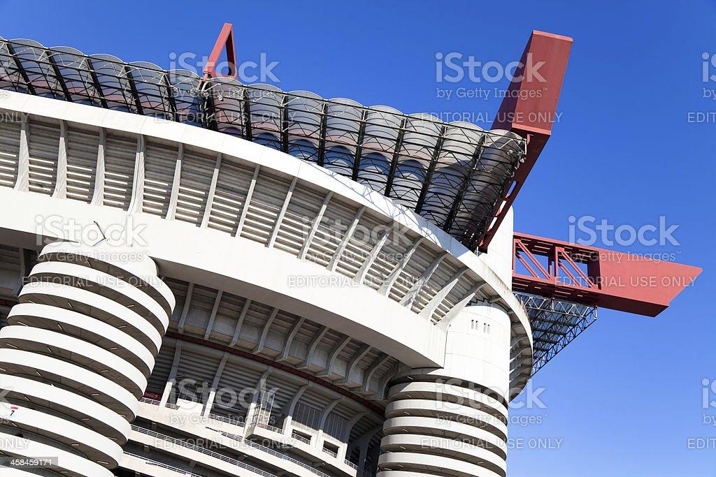 Stadium of 'S.Siro' in Milan - Stock Image stock photo