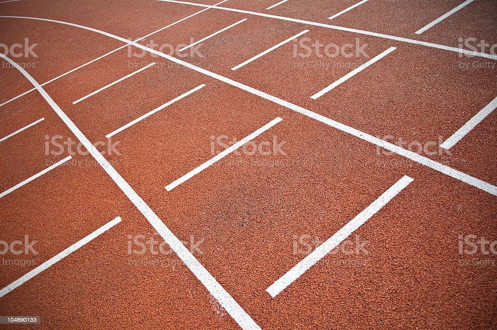 Stadium running track. royalty-free stock photo