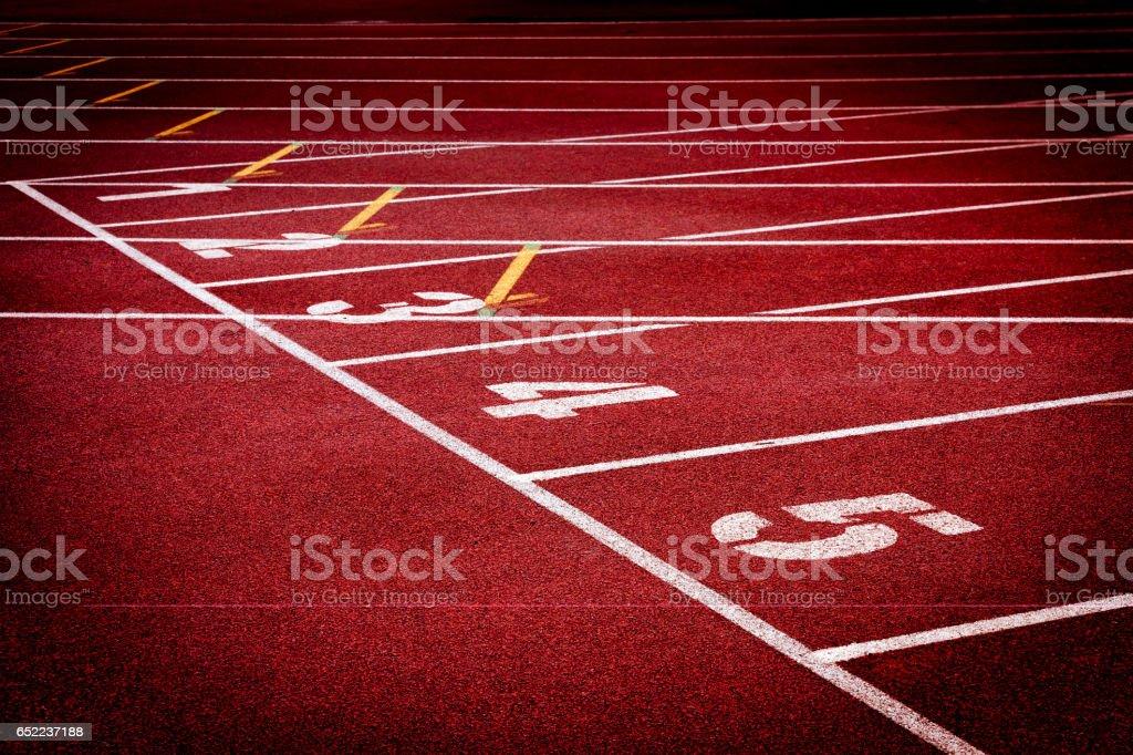 Stadium running tracks stock photo