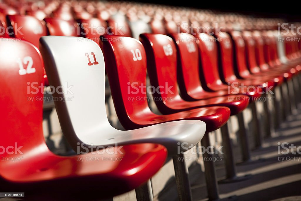 VIP Stadium seat stock photo