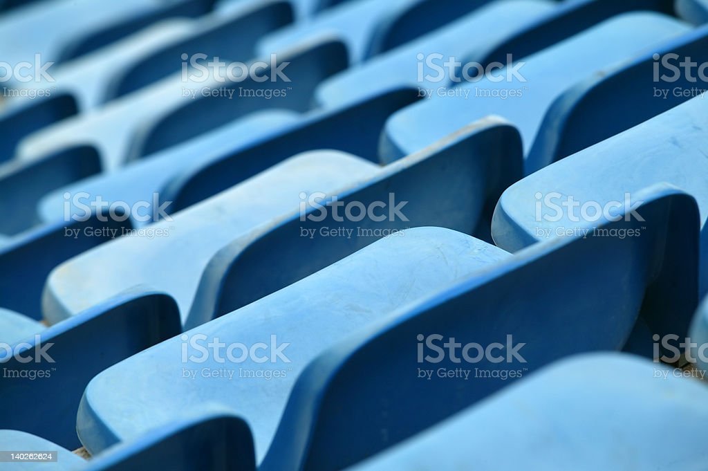 stadium seat royalty-free stock photo