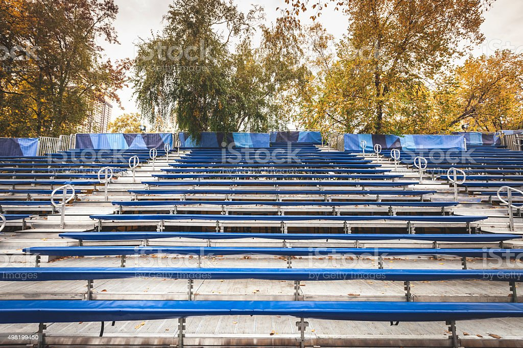 Stadium Seating in Central Park stock photo